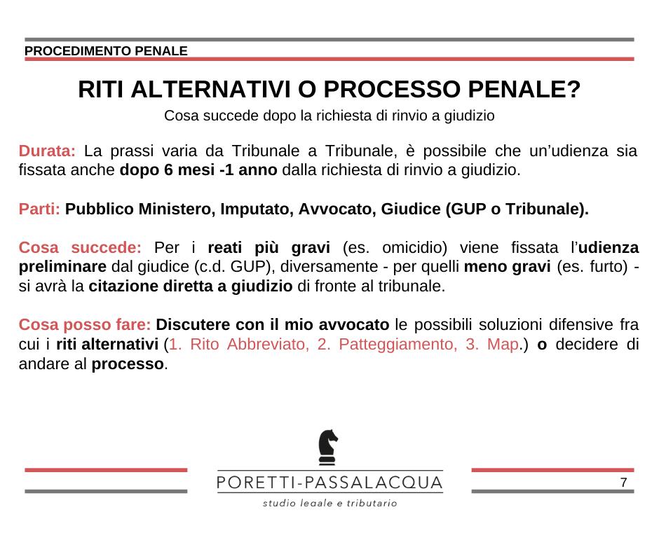 riti alternativi processo penale avvocato milano