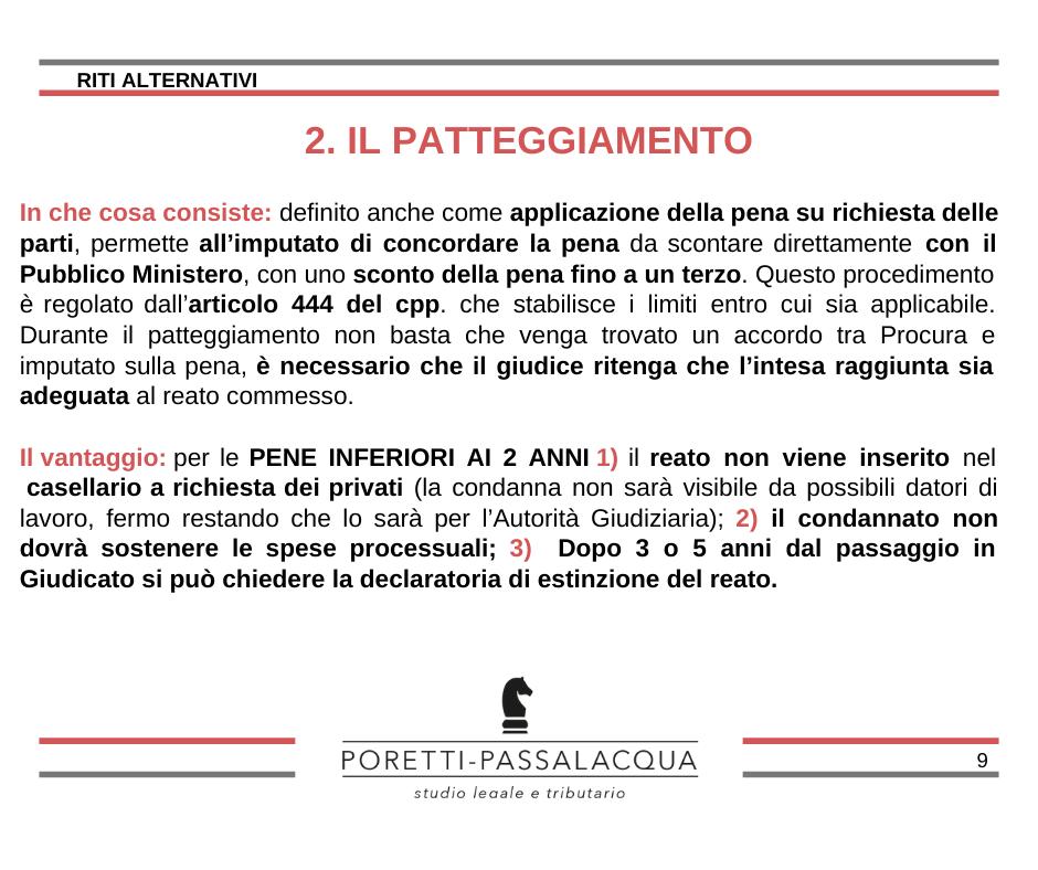 patteggiamento 444 avvocato milano