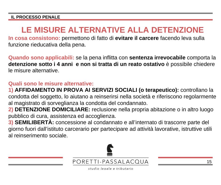 misure alternative alla detenzione avvocati milano